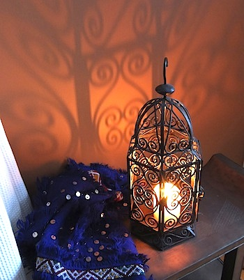 wrought iron Moroccan lantern