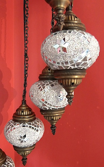 Turkish spiral chandelier